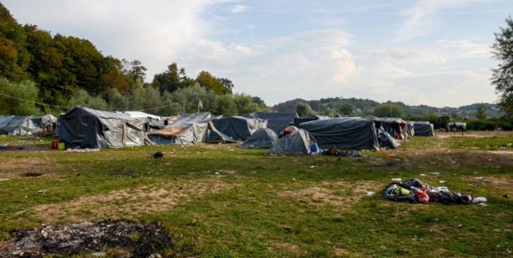 29 زخمی در پی آتش سوزی در اردوگاه پناهجویان در بوسنی