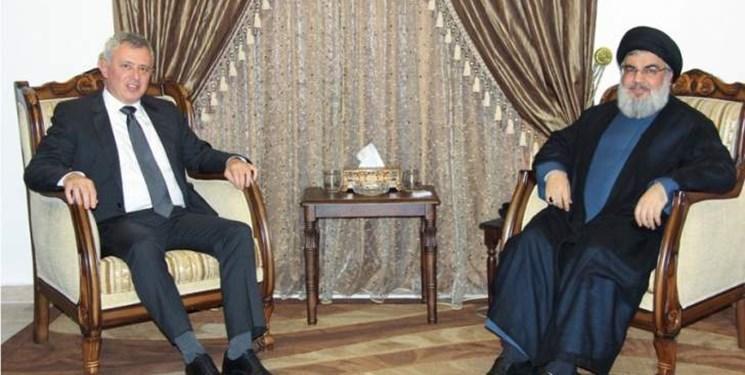 دیدار رئیس جریان المرده لبنان با سید حسن نصرالله