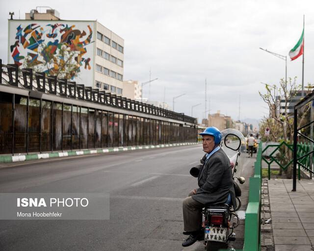 ترافیک دهه شصتی تهران در روزهای کرونایی اسفند و فروردین